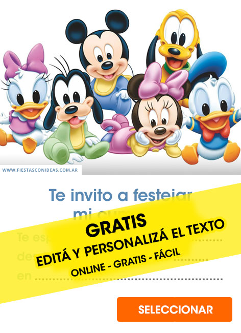 De Minnie Hacer Mouse Como Para Baby Shower Invitaciones