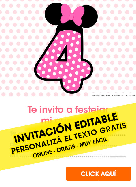 Shower De Invitaciones Mouse Hacer Como Para Minnie Baby