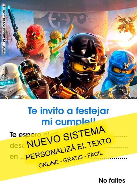4 free ninjago birthday invitations