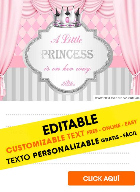 crown princess birthday invitations