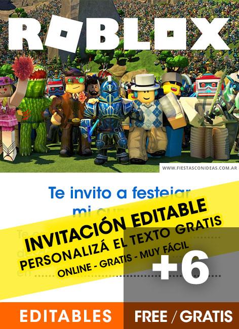 6 free roblox birthday invitations for