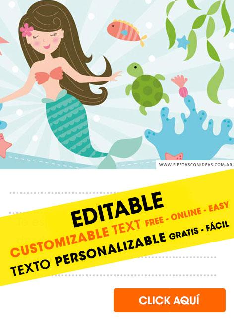 12 free mermaid birthday invitations