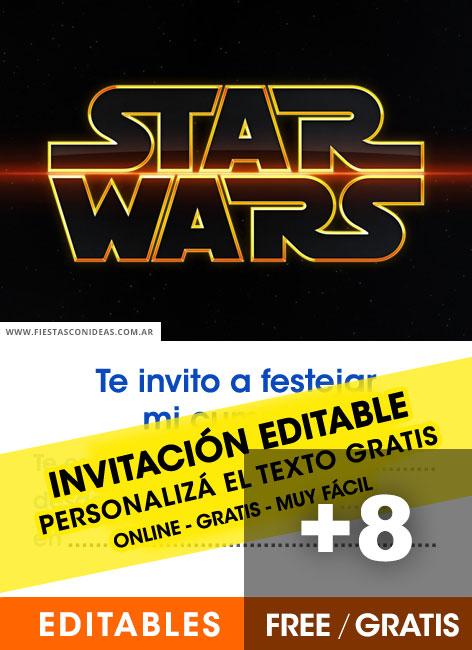 15 free star wars birthday invitations