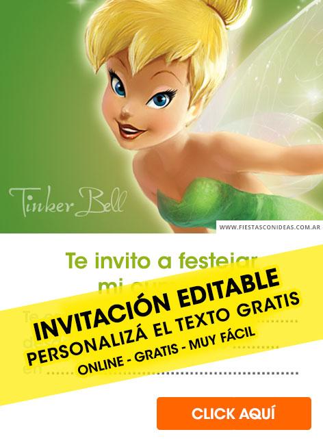 free tinkerbell birthday invitations