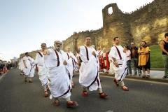 Desfile Senadores Romanos junto a la Muralla