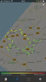 Mijn rondje was uiteindelijk 48 km, met heen en terug rijden naar en van Café De Jachthaven Kwintsheul