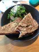 Een lichte lunch om ruimte voor de snert over te houden — bij Eetcafé de Witte.