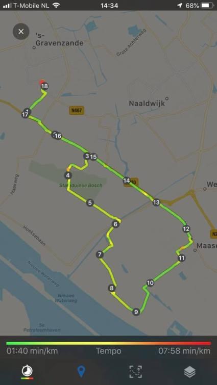 18 km fietsen in de beentjes — bij Fietsen voor m'n eten.