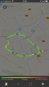 Een bescheiden ritje van 9 km — bij Fietsen voor m'n eten.