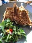 Die tosti van Eetcafé de Witte was toch nog een hele hap... — bij Eetcafé de Witte.