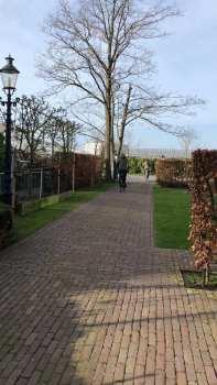 De laatste meefietsers fietsen weer naar huis vanaf Santé Holland — bij Santé Holland.