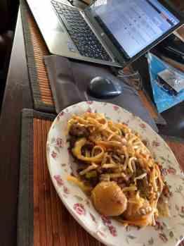 De website van Fietsen voor m'n eten afmaken onder het genot van restjes Chinees van de Julianaweg — bij Fietsen voor m'n eten.