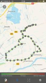 Na 44 km weer terug op de camping — bij Boerderijcamping De Mulderije.
