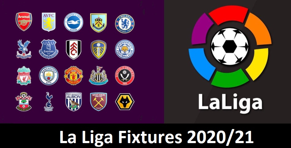 Primera Division La Liga Fixtures 2020/21 Point Table, Standings & Results