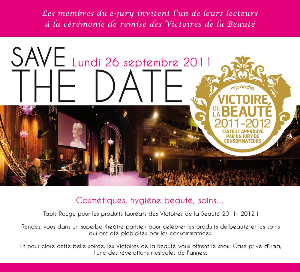 Qui veut maccompagner à la cérémonie de remise des Victoires de la Beauté ? [Concours inside]   invitation ejury
