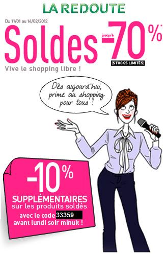 Réduction supplémentaire – Soldes La Redoute – Hiver 2011   soldes laredoute