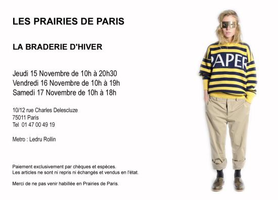 Braderie Les Prairies de Paris   braderie prairies de paris 550x396