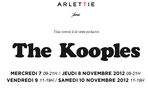 Vente privée The Kooples chez Arlettie   vp the kooples arlettie