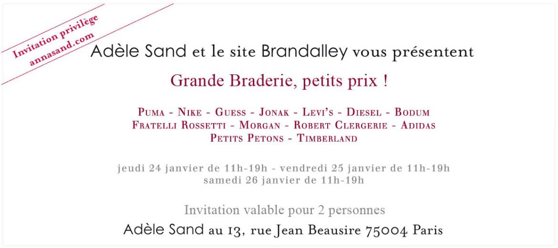 Grande braderie chez Adèle Sand   Hiver 2013   braderie adele sand