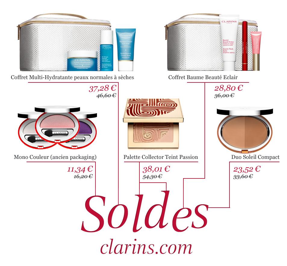 Pré Soldes Clarins   Hiver 2012   soldes clarins