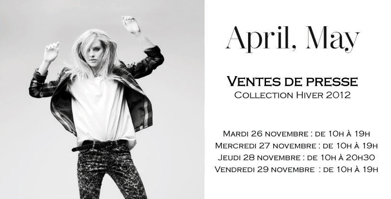 Ventes presse April May   Automne 2013   april may