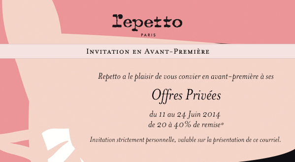 ventes privées repetto