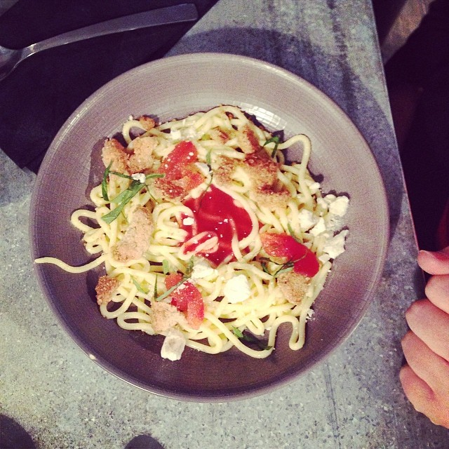 spaghetti bolognaise prive de dessert