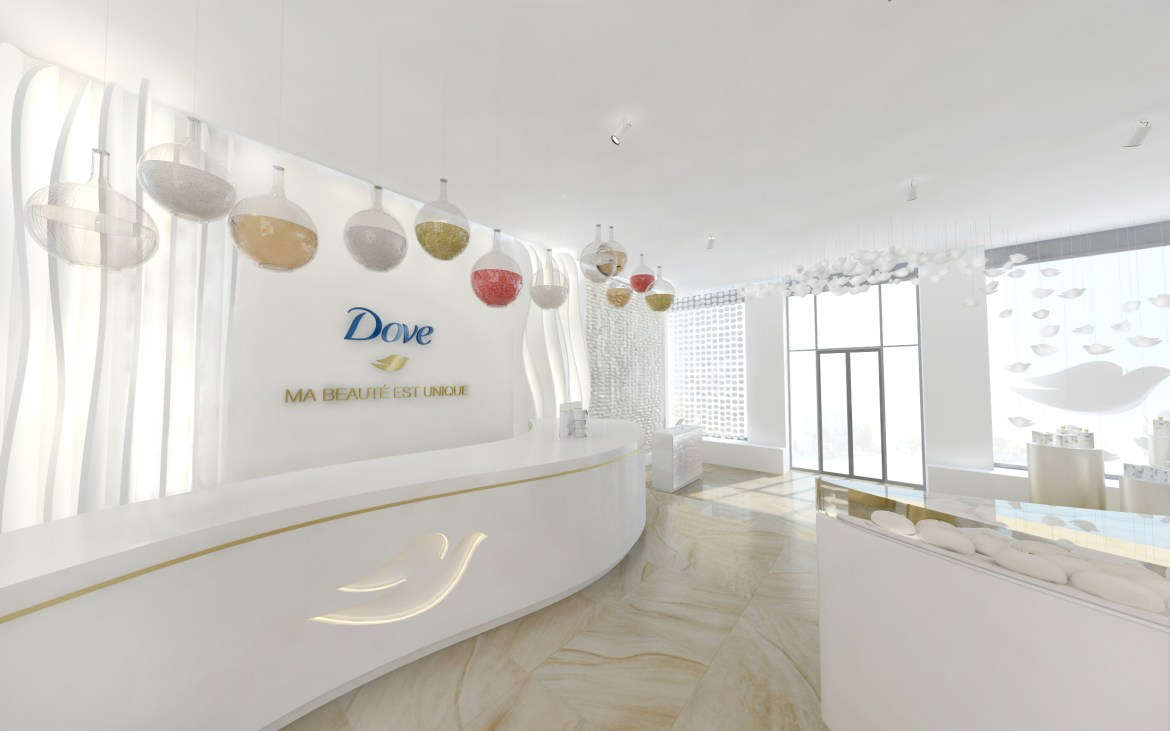 Dove pop up store