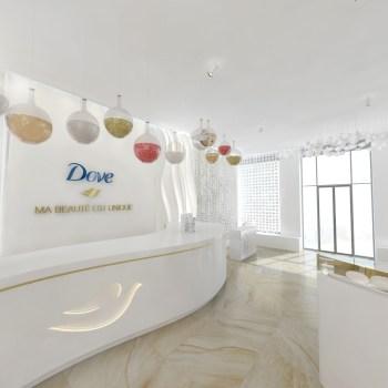 Dove pop up store