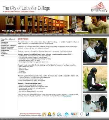 City Leicester College website