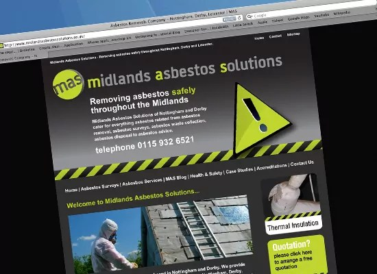 Midlands Asbestos Removal website design