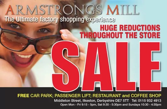 armstrongs mill summer sale posters