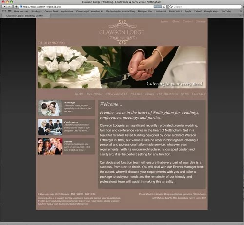 clawson lodge website design