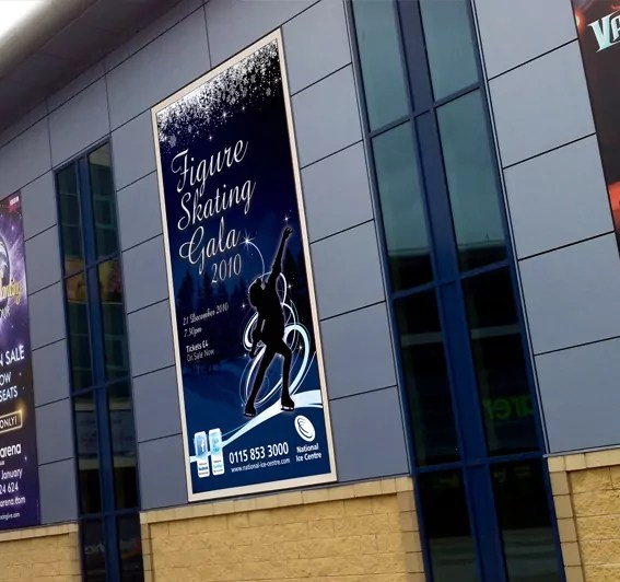 Ice Skating Gala advertising poster