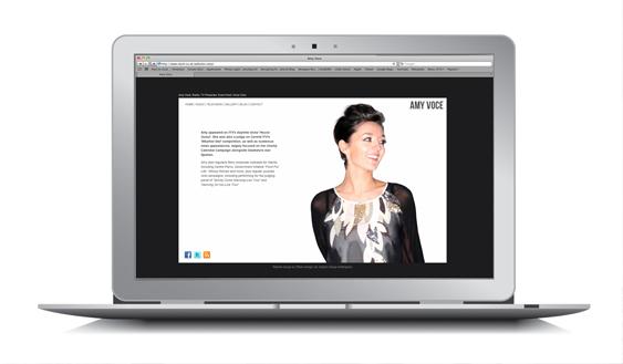 Website Design for Amy Voce