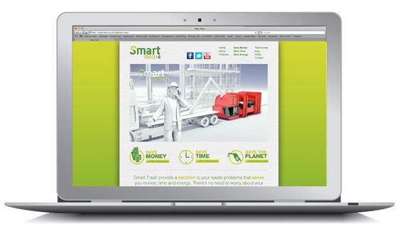 Smart Trash web design