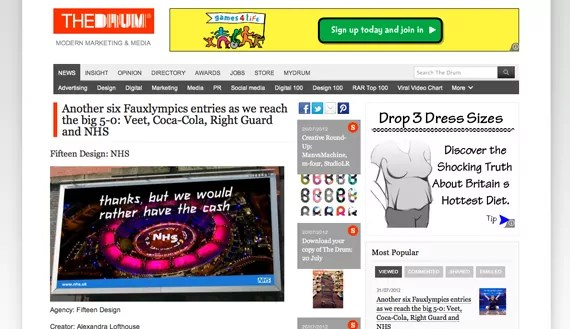 fauxlympics competition advert mockup
