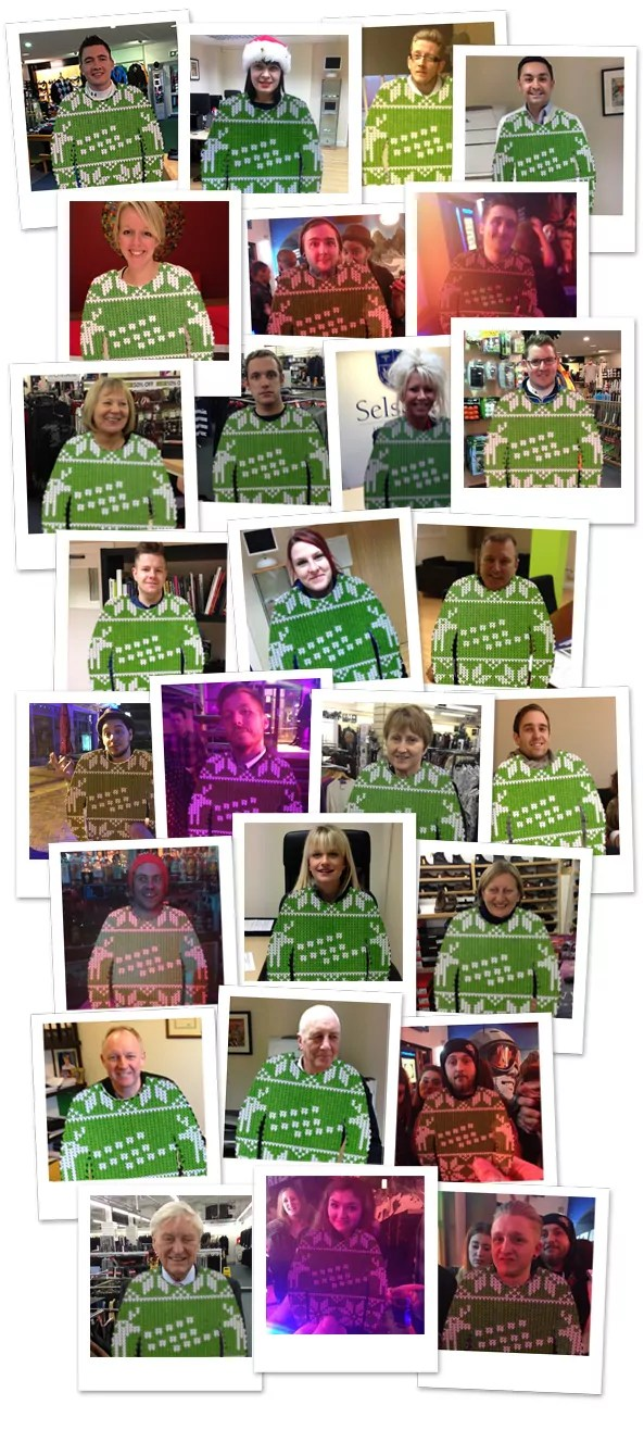 Christmas jumper competition entries
