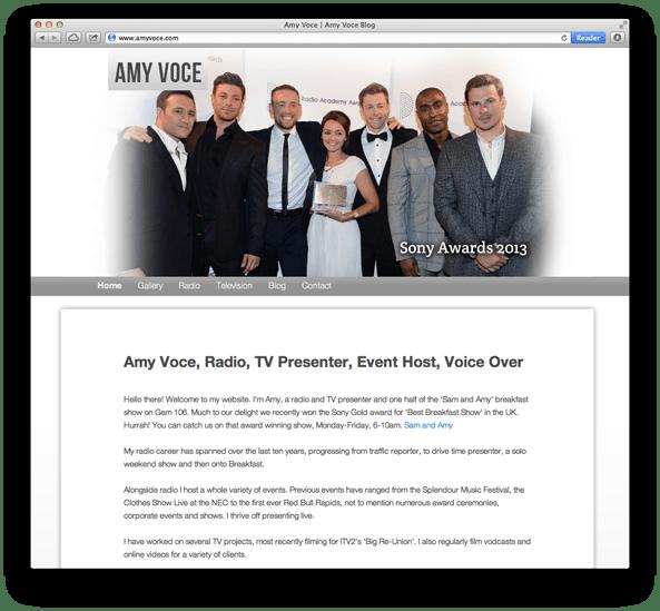 Website Design For Gem 106 Host Amy Voce home