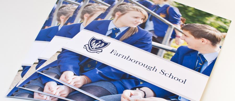 farnborough school prospectus design nottinghamshire