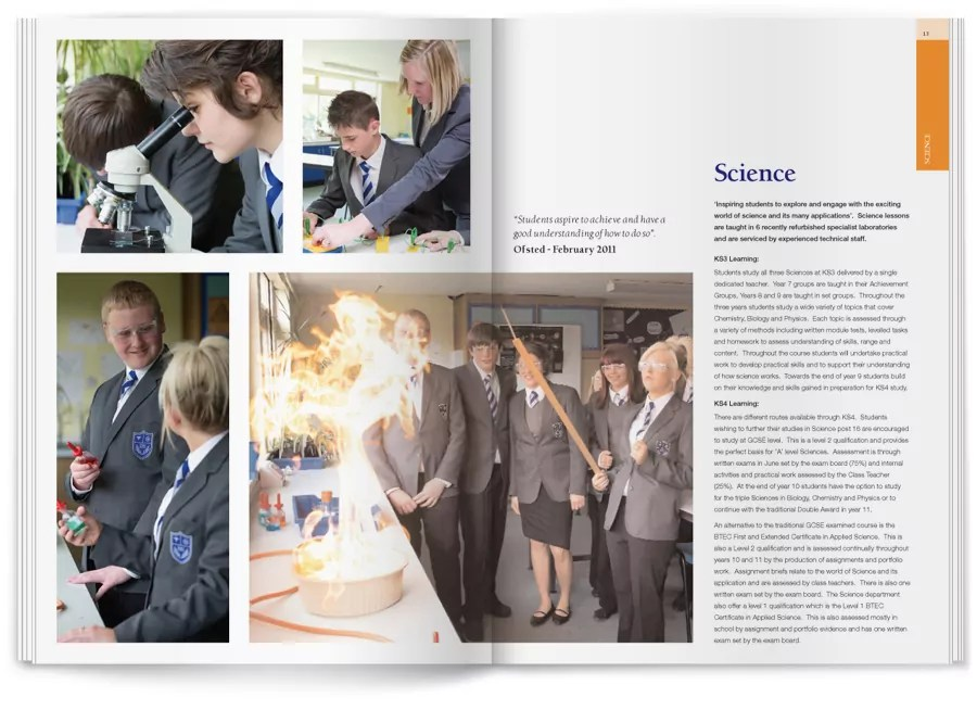 selston high school brochure design inside