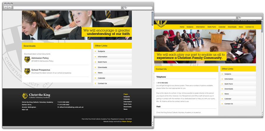 School Prospectus and website design 2