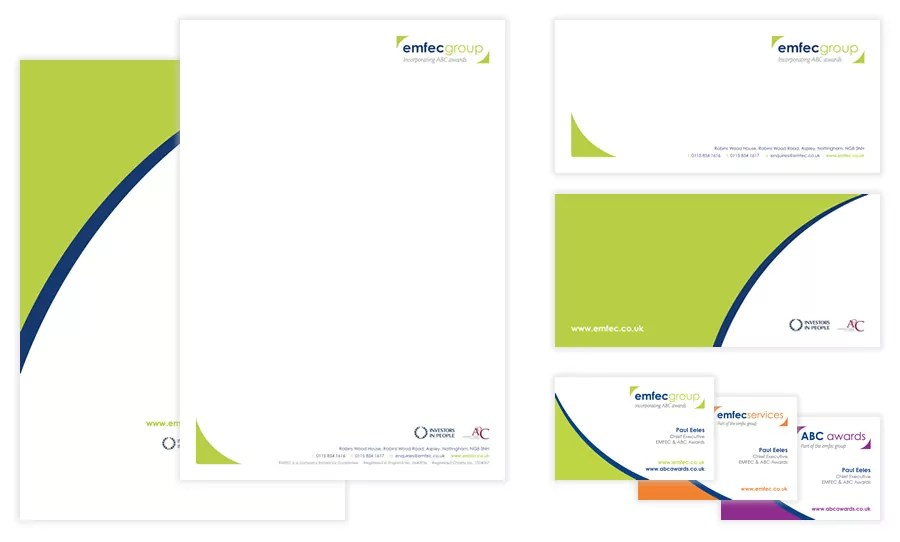 emfec business stationery design