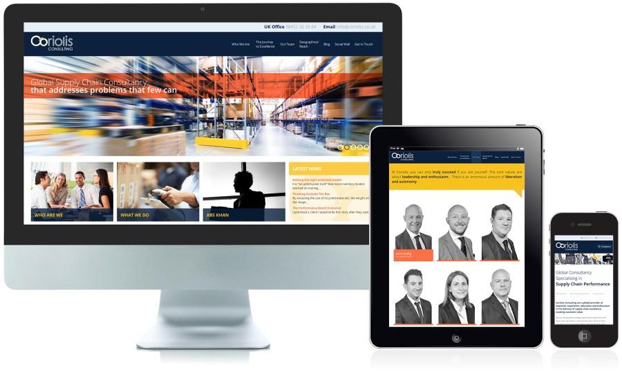 Coriolis website design