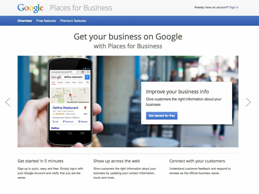 Adding your business to Google Places