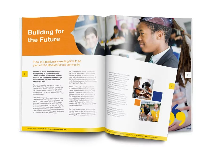 The Becket School Prospectus Desgn