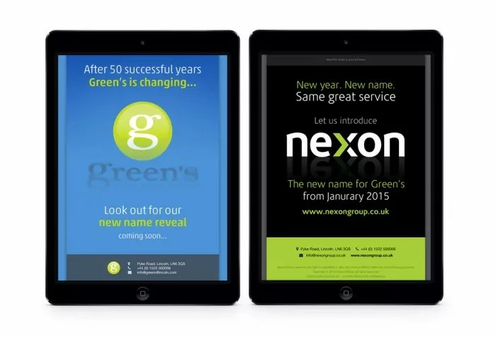 Nexon Brand Launch Email Campaign