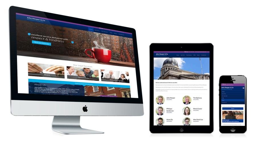 john hooper Solicitors website design