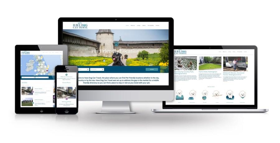 Have Dog Can Travel Website Design