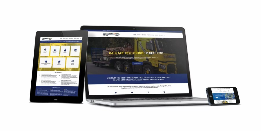 Freelance Haulage Website